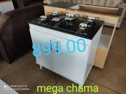 Fogão cooktop Realce mega chama + balcão