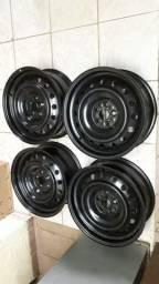 Jogo de rodas aro 16 de ferro Corolla/Prius (Toyota) 5x100