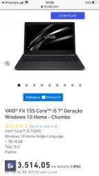Notebook Sony vaio i5