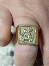 anel sao jorge moeda antiga semi novo