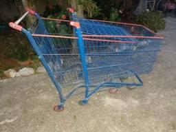 Lote duas unidades Carrinho de supermercado