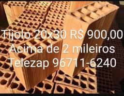 Tijolos Campista 20x20 700 e 20x30 900