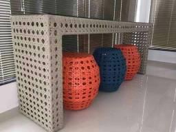 Aparadores em fibra sintética