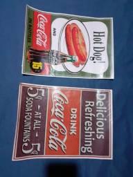2 cartazes coca-cola por R$ 30,00