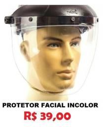 Protetor Facial Incolor  8'' Profissional - Novo *