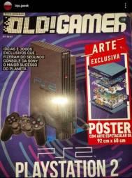 Coleção Old gamer Playstation 2 + pôster