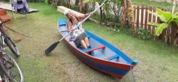 Caiaque artesanal canoa mini barco em madeira. Medindo 3,50 x 0,75 x 0,40