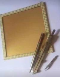 Compasso técnico, extensor prolongador de lápis e espelho mágico * Vintage