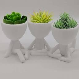 Vaso Decorativo Bob Robert Plant Bbb Suculentas -Meditando