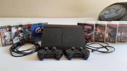 Vendo PS3 500GB + 23 jogos