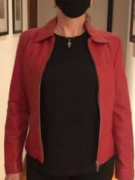 Jaqueta de couro feminino P