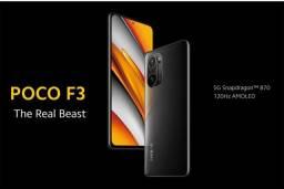 Xiaomi Poco F3 5G (256GB + 8GB RAM) preto (Snapdragon 870) (linha premium tops de linha)