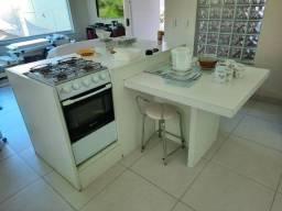 Balcão ilha MDF + mesa conjugada+ fogão