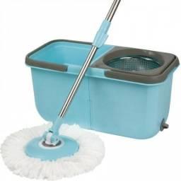 Esfregao Mop Limpeza Premium com 2 Baldes 1 Esfregão e 2 Refis Novo