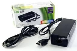 Fonte Xbox 360 Slim Bivolt 110v/220v 135w Cabo De Força(Entregas a Domicílio-Nota fiscal)
