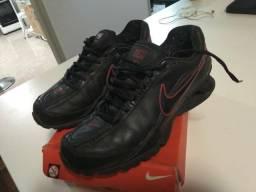 Tênis Nike Shox 2 Molas Preto de Couro (Novo) n° 38 1a1ac40ed9c9d