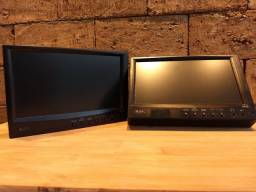 "Par de telas LCD 7"" BOSS - Com 3 entradas de vídeo"