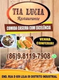 Tia Lúcia restaurante/ fornecimento de quentinha