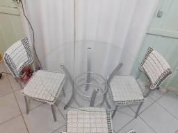Mesa de vidro .250 entrego