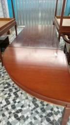 Mesa em L madeira de lei macica
