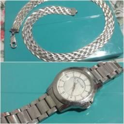 66fc01266ab Corrente de Prata e Relógio