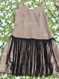 Vestido franjado