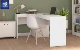 Mesa Office de L para escritório/quarto #FreteGRÁTIS* #Garantia #Novo