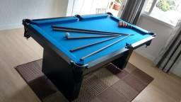 Mesa Encanto e Jantar Cor Preta Tecido Azul Mod. GVIA8549