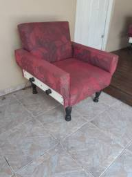 Conjunto de sofá antigo