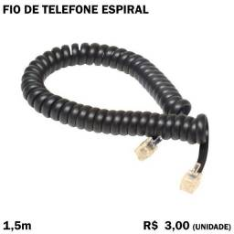 Fio Espiral de Telefone