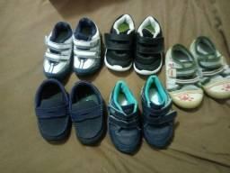 Lote de calçados para bebê menino números  20