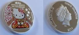Moeda Comemorativa Hello Kitty