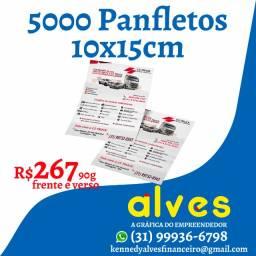 5000 Panfletos frente e verso