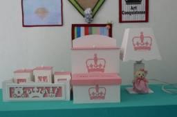 Kit Higiene para bebê tema princesa