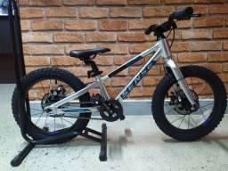 Bicicleta Infantil Sense Alumínio Grom 16 2021 - Prata/Azul Aqua