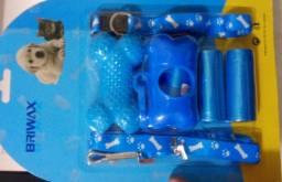 Kit higiênico cata caca +Brinquedo +Coleira
