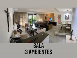 TL-Apartamento c/ 3 quartos todo mobiliado na Av. das Américas