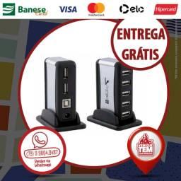 Hub USB 2.0 Com 7 Portas Com Fonte 480 Mbps