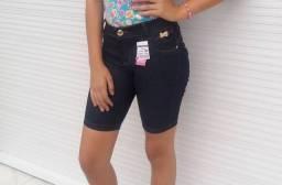 Shortinhos Jeans com Lycra - Tamanhos 08 ao 16 anos<br>