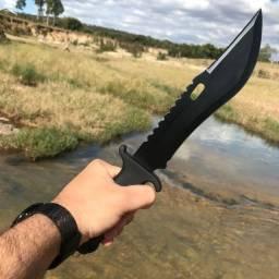 Faca caça tática militar esportiva selva sobrevivência inclui bainha