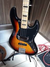 Baixo SX Jazz Bass com upgrades