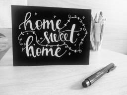 Quadro Lousa - Home Sweet Home - Feito a mão