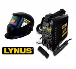Kit Lynus Máquina De Solda Inversora Digital 120a 220v Isl-165 e Máscara De Solda