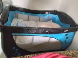 Cercadinho Azul para bebê 2 alturas