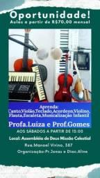 Aulas de Música -  70,00 mensal