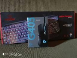 Kit gamer mouse e teclador