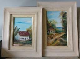 Quadros de Paisagem Bucólica, Pintura a óleo sobre tela