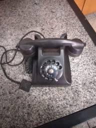 Telefone antigo preto Baquelite