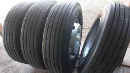 """""""Barbsda"""" 04 pneus 295 montados com rodas e com garantia"""