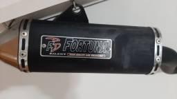 Escapamento Fortuna Mini Tri F1  XR 250 Tornado